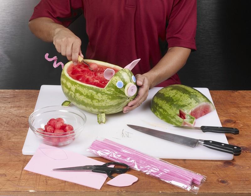 تزیین هندوانه - میوه آرایی شب یلدا