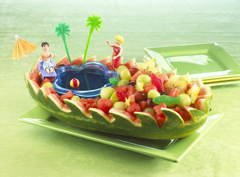 تزئین هندوانه - میوه آرایی شب یلدا