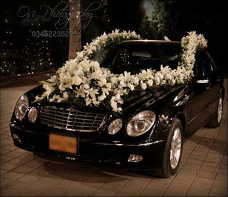 تزئین ماشین عروس