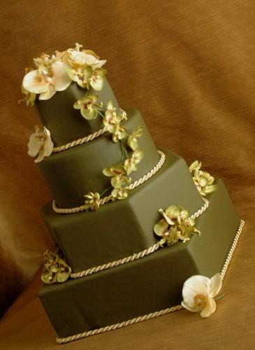 نمونه های تزئین کیک عروسی -۱
