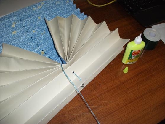 آموزش هنرهای دستی  , آموزش تصویری ساخت پرده کرکره کاغذی