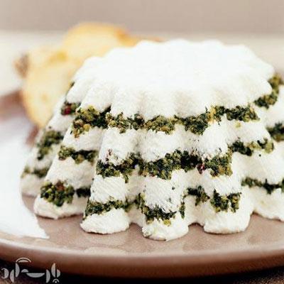 دستور پخت غذا  , کیک ماست با سبزیجات معطر