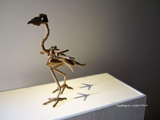 مجسمه سازی با چوب های فرسوده و آب خورده +عکس