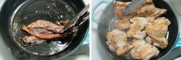 دستور پخت غذا  , طرز تهیه تاکوی مرغ با بیکن
