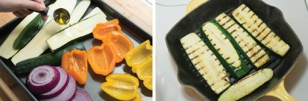 سالاد ماکارونی با سبزیجات گریل شده