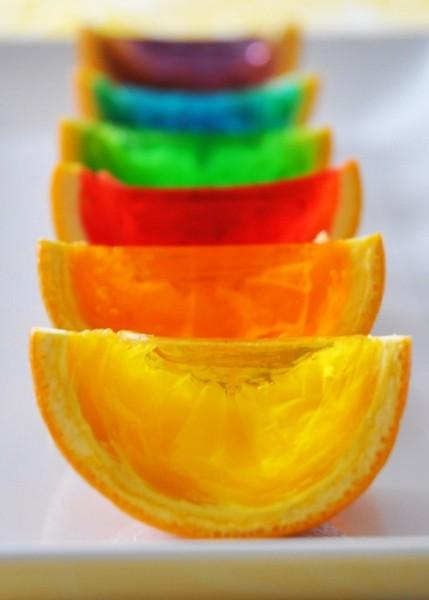 پرتقال ژله ای در رنگهای مختلف