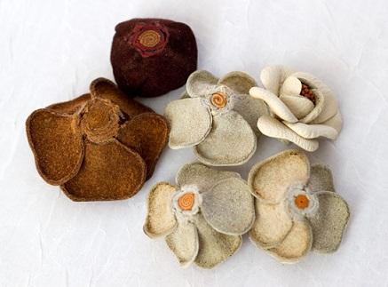 آموزش تصویری ساخت گل چرمی - آموزش گلسازی - درست کردن گل چرمی
