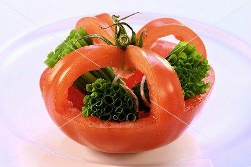 چند نمونه تزئین گوجه فرنگی