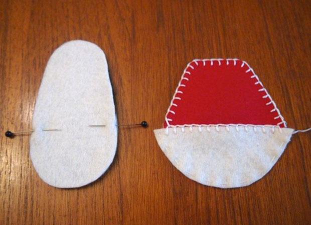 آموزش طرز دوختن کفش نمدی بچگانه - آموزش خیاطی - دوخت کفش بچه با فوتر