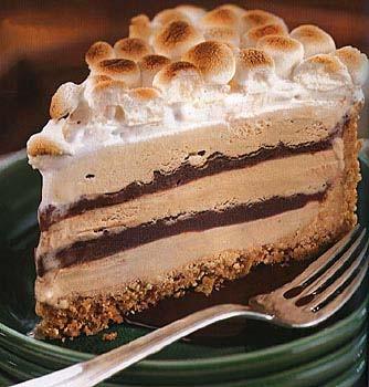 کیک بستنی با سس شکلات