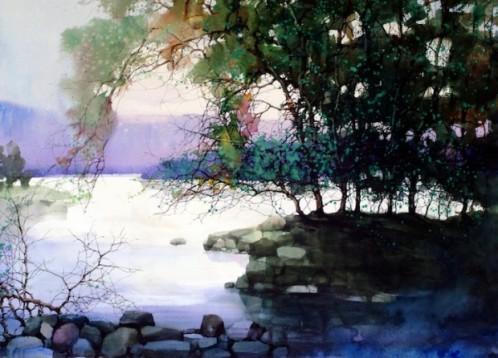نقاشی های آب رنگ زیبای فنگ