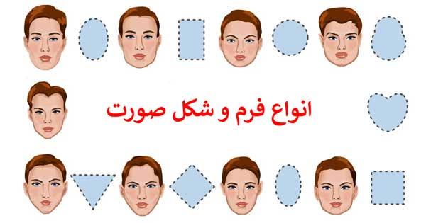 انواع فرم و شکل صورت