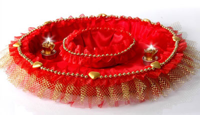 تزئینات عقد و عروسی نو عروس  , تزئین سینی حنا - سری اول