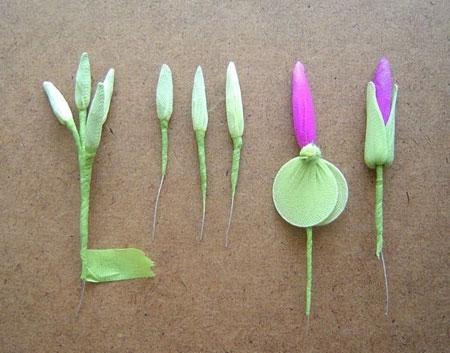 ساخت گل جورابی,آموزش تصویری درست کردن گل با جوراب