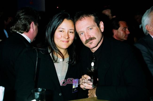 """robin-williams   ویلیامز و همسر دومش """"مارشا"""""""