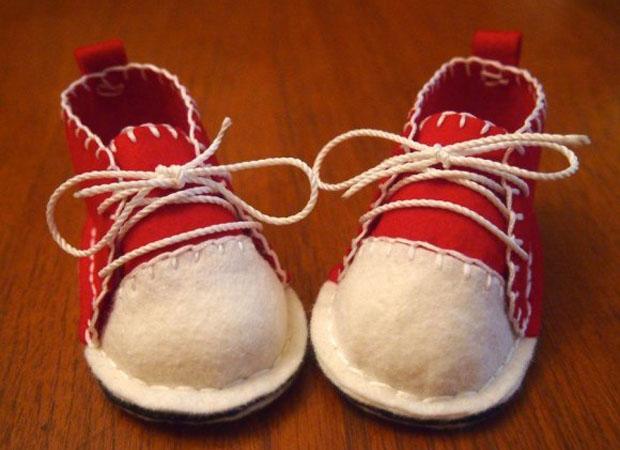 روش دوختن کفش نوزاد با فوتر - آموزش خیاطی