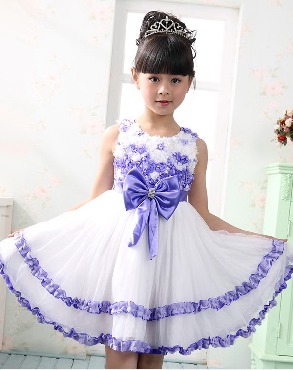 پیراهن دخترانه مجلسی - مدل لباس مجلسی بچگانه - مدل پرنسسی