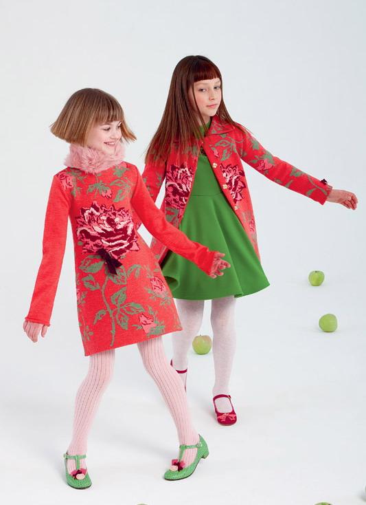 مدل تونیک پاییزه دخترانه - کت بلند بچگانه - مدل لباس بچگانه پائیزی