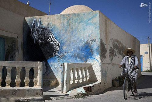 روستایی که بوم نقاشی شد
