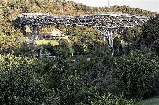 پل طبیعت، زیباترین پل عابر پیاده ایران +عکس