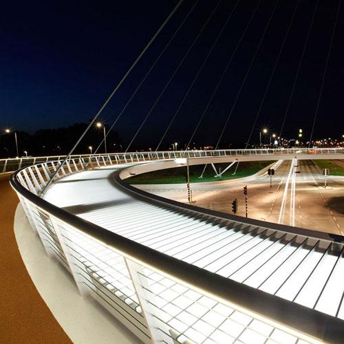 اولین فلکه و پل معلق جهان ویژه دوچرخه سواران