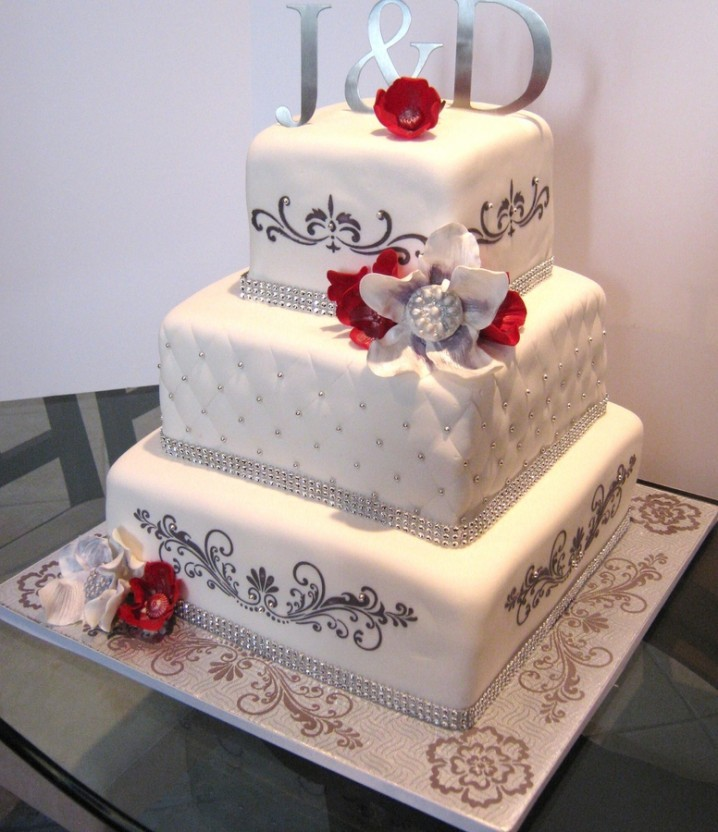 مدل کیک عروس نو عروس  , نمونه های تزئین کیک عروسی -2