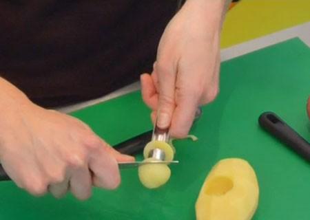 تزئین سیب زمینی به شکل قارچ (آموزش تصویری)