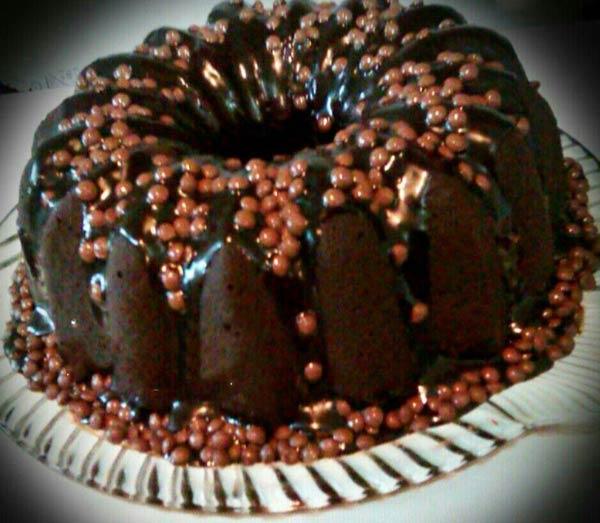 کیک بدون تخم مرغ شکلاتی