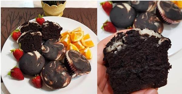 کاپ کیک شکلاتی بدون تخم مرغ