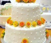 کیک تزئین شده با خمیر فوندانت خانگی