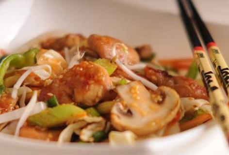 غذای رژیمی  , طرز تهیه خوراک مرغ و سبزیجات