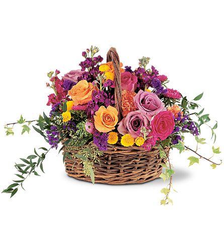 تزئین سبد گل