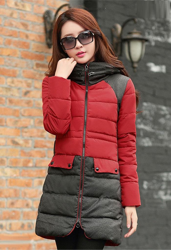 مدل پالتو مشکی و قرمز زنانه کره ای