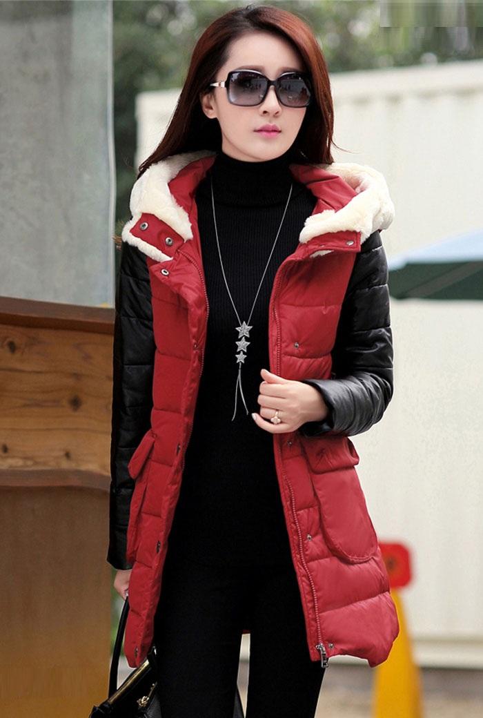 مدل پالتو زنانه قرمز و سیاه