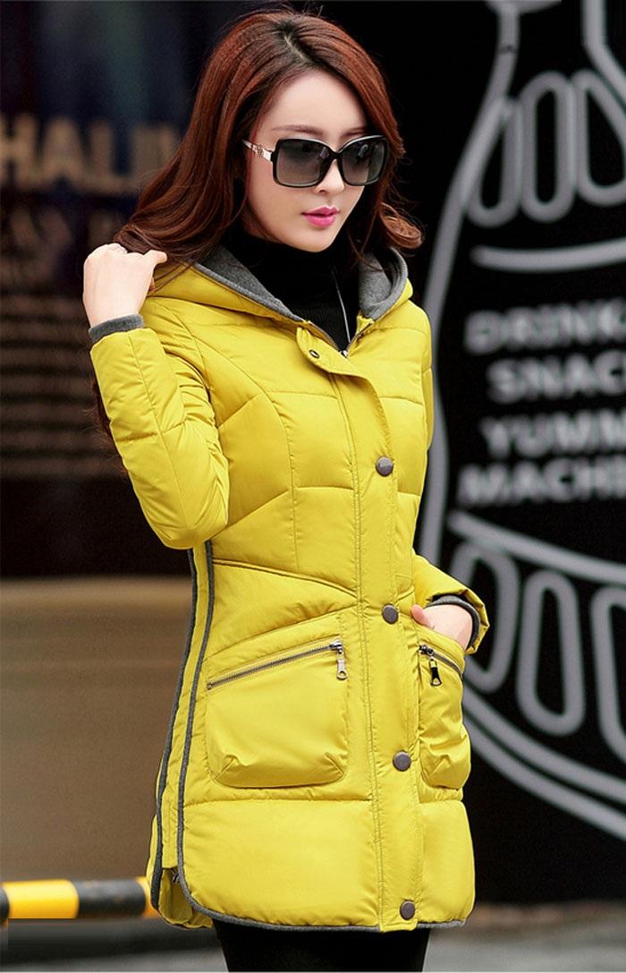 مدل پالتو دخترانه زرد رنگ