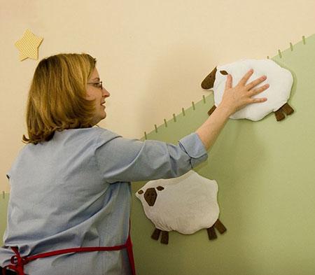 تزئین دیوار اتاق نوزاد