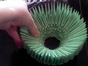 آموزش هنرهای دستی  , آموزش تصویری ساخت سبد کاغذی اوریگامی