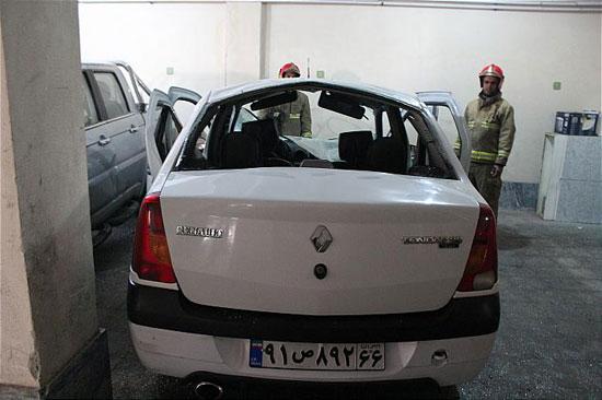 انفجار عجیب خودروی تندر 90 +عکس