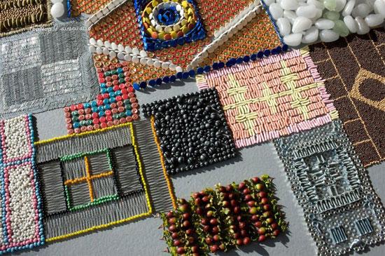 ساخت تابلو فرش با همه چیز +عکس