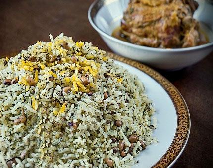 طرز تهیه لوبیا پلو شیرازی (چشم بلبلی)