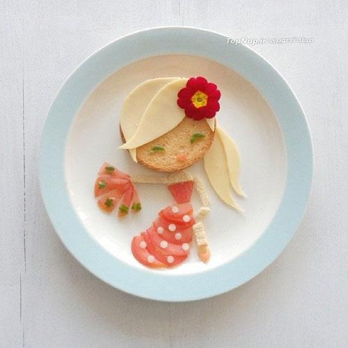 هنرمندی های رنگارنگ با خوراکی ها +عکس