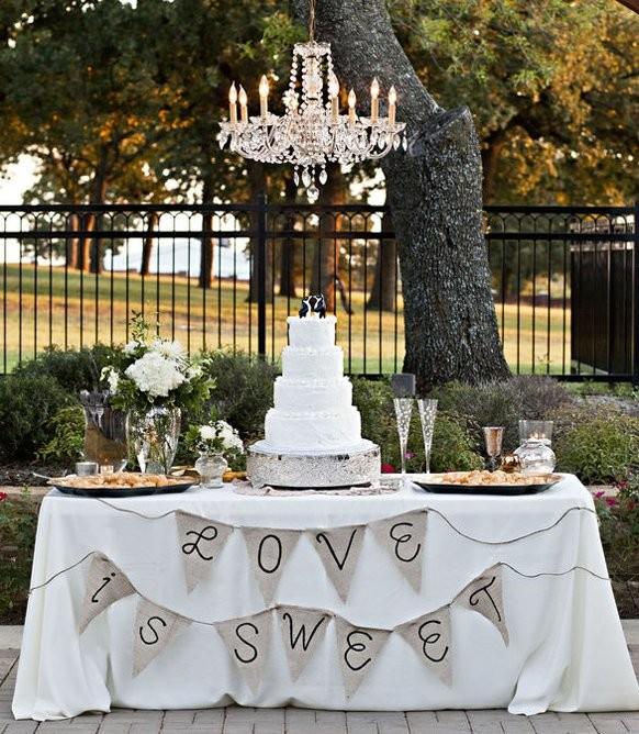 تزئین میز کیک عروسی