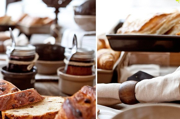 چند نمونه چیدمان میز صبحانه