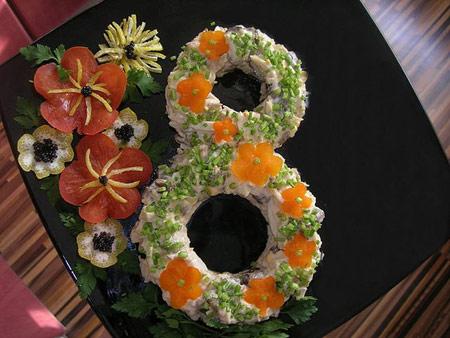 تزیین سالاد الویه برای جشن تولد,عکس تزیین سالاد الویه