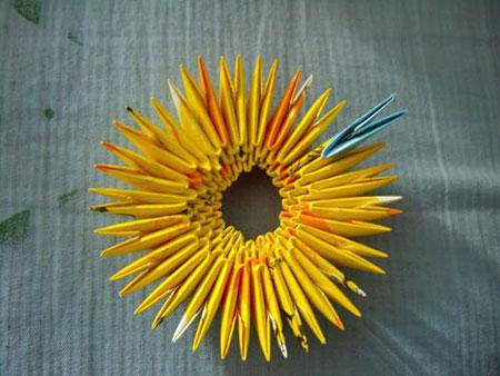 آموزش هنرهای دستی  , آموزش تصویری ساخت جامدادی اوریگامی