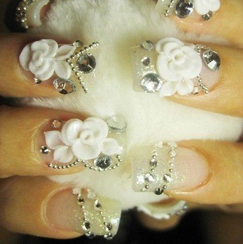 طراحی ناخن عروس, ناخن سه بعدی