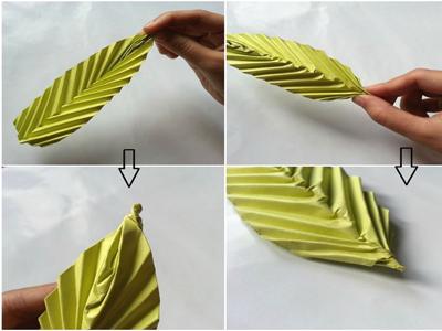 آموزش ساخت برگ اوریگامی هنر کاغذ و تا