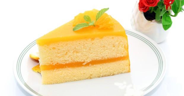 کیک شیفون با رویه پرتقالی