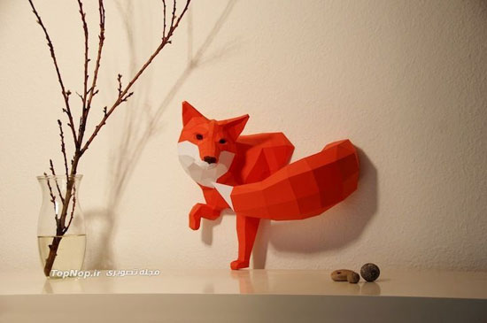 حیوانات کاغذی هندسی