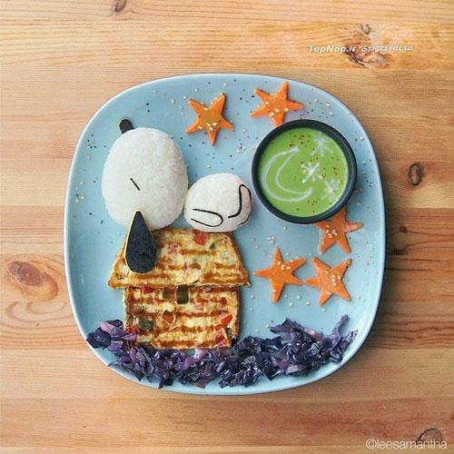 هنرمندی یک مادر با غذای فرزندانش +عکس